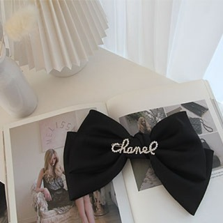 Chanel ribbon hairpin