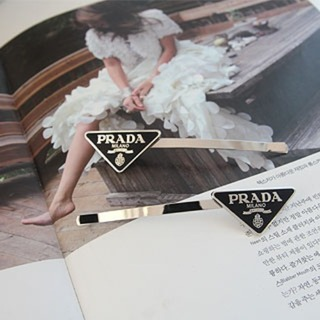 Prada triangle hairpin