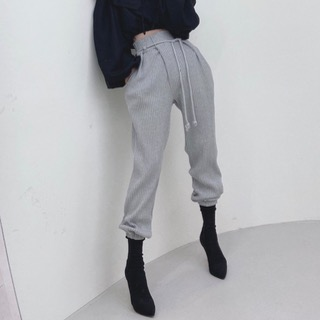 String jogger pants (Black / gray/ ivory/ beige/ pink)