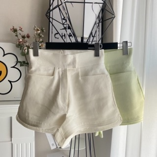High short pants  (Ivory /lime /pink)