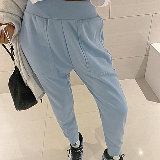 Pocket jogger pants (ivory/ sky blue/ black)